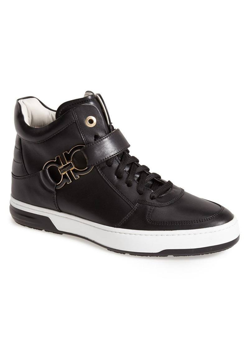 Ferragamo Salvatore Ferragamo Nayon High Top Zip Sneaker