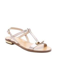 Salvatore Ferragamo new bisque calfskin 'Marino' bow t-strap sandals