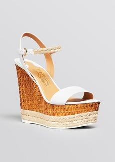 Salvatore Ferragamo Open Toe Ankle Strap Platform Wedge Sandals - Marlene