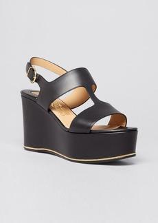 Salvatore Ferragamo Open Toe Platform Sandals - Fiamma