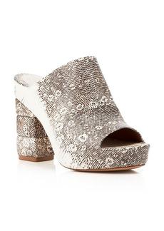 Salvatore Ferragamo Open Toe Platform Slide Sandals - Maiella High Heel