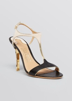 Salvatore Ferragamo Open Toe Sandals - Monroe High Heel