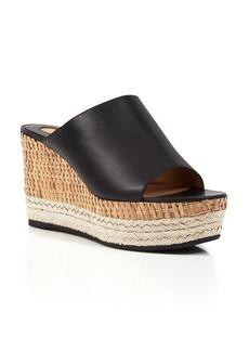 Salvatore Ferragamo Open Toe Slide Mule Platform Wedge Sandals - Maimei