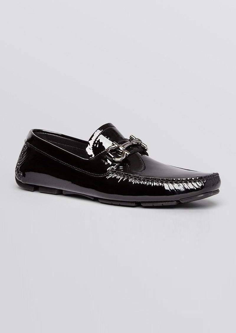 ferragamo salvatore ferragamo parigi patent leather driving loafers sizes 11 shop it to me. Black Bedroom Furniture Sets. Home Design Ideas