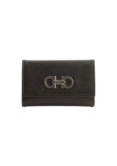 Salvatore Ferragamo peach leather gancio detail key holder