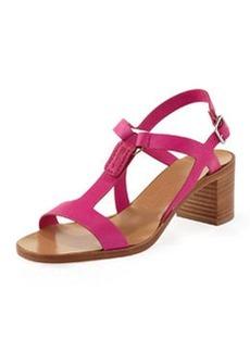 Salvatore Ferragamo Peria Mid-Heel Sandal, Agata Rose Pink