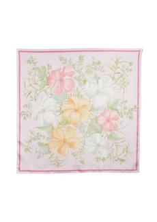 Salvatore Ferragamo pink floral silk 32'' scarf