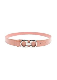 Salvatore Ferragamo pink leather gancini reversible belt