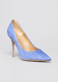 Salvatore Ferragamo Pointed Toe Pumps - Susi Snakeskin High Heel