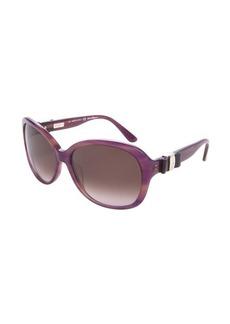 Salvatore Ferragamo purple acrylic round sunglasses