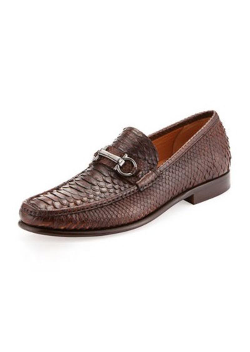 ferragamo salvatore ferragamo raffaele python gancini loafer shoes shop it to me. Black Bedroom Furniture Sets. Home Design Ideas