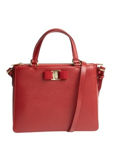 Salvatore Ferragamo red leather convertible mini satchel