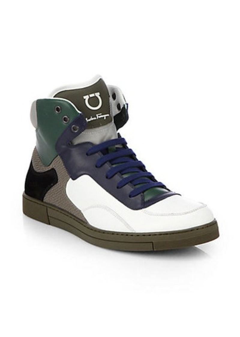 Ferragamo Salvatore Ferragamo Robert High-Top Sneakers - Shoes - Shop ...