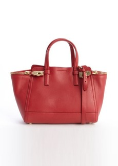Salvatore Ferragamo rosso red leather gancio clasp small tote bag