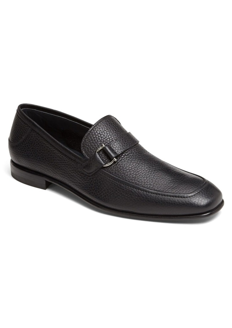 ferragamo salvatore ferragamo 39 ruston 39 pebbled leather loafer sizes 13 shop it to me all. Black Bedroom Furniture Sets. Home Design Ideas