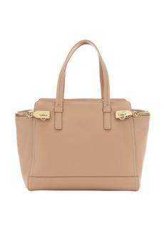 Salvatore Ferragamo sable leather 'Verve' zip side top handle bag