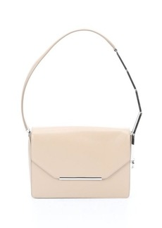 Salvatore Ferragamo sesame leather 'Alizee' plate detail convertible shoulder bag