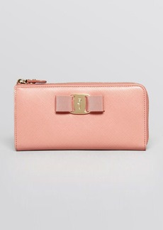 Salvatore Ferragamo Wallet - Miss Vara Bow Tissu Soft Zip Around Continental