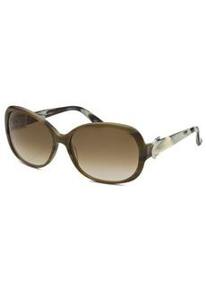 Salvatore Ferragamo Women's Butterfly Green Horn Sunglasses