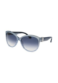 Salvatore Ferragamo Women's Cat Eye Light Blue Sunglasses
