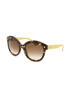 Salvatore Ferragamo Women's Cat Eye Tortoise Sunglasses