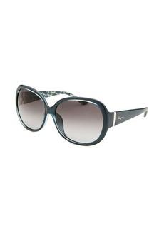 Salvatore Ferragamo Women's Oversized Blue Sunglasses