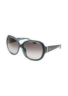 Salvatore Ferragamo Women's Oversized Blue Sunglasses