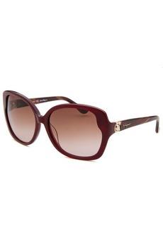 Salvatore Ferragamo Women's Oversized Bordeaux Sunglasses