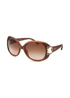 Salvatore Ferragamo Women's Oversized Fire Brick Red Sunglasses