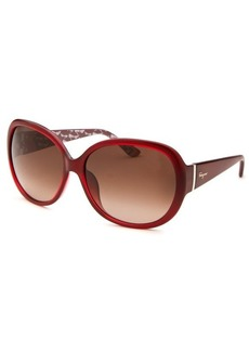 Salvatore Ferragamo Women's Oversized Red Sunglasses