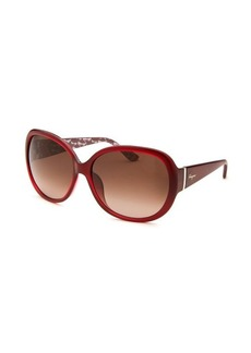 Salvatore Ferragamo Women's Oversized Red Sunglasses