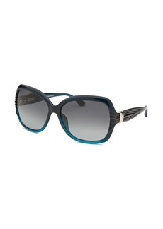 Salvatore Ferragamo Women's Pearl Blue Butterfly Sunglasses