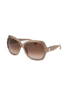 Salvatore Ferragamo Women's Pearl Blush Butterfly Sunglasses