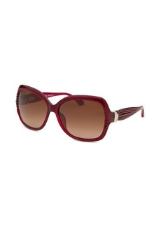 Salvatore Ferragamo Women's Pearl Red Butterfly Sunglasses
