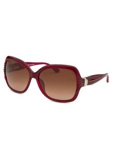 Salvatore Ferragamo Women's Pearl Red Butterfly Sunglasses
