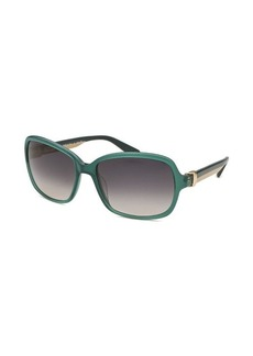 Salvatore Ferragamo Women's Rectangle Aqua Sunglasses