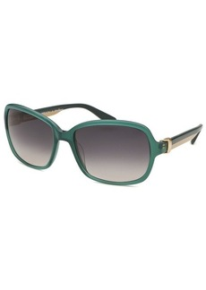 Salvatore Ferragamo Women's Rectangle Aqua Sunglasses