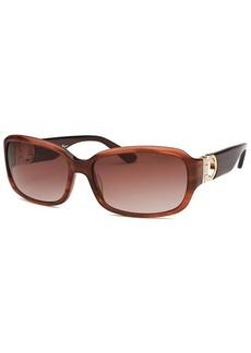 Salvatore Ferragamo Women's Rectangle Striped Brown Sunglasses