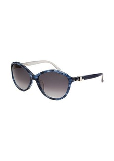 Salvatore Ferragamo Women's Round Blue Sunglasses