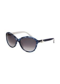 Salvatore Ferragamo Women's Round Blue Sunglasses