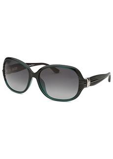 Salvatore Ferragamo Women's Round Pearl Green Sunglasses