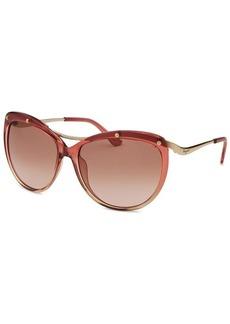 Salvatore Ferragamo Women's Round Rose Gradient Sunglasses