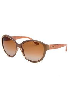 Salvatore Ferragamo Women's Round Taupe Sunglasses
