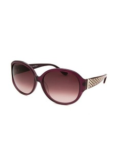Salvatore Ferragamo Women's Round Translucent Purple Sunglasses