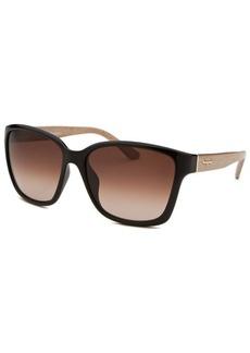 Salvatore Ferragamo Women's Square Black Sunglasses