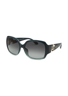 Salvatore Ferragamo Women's Square Dark Teal Sunglasses