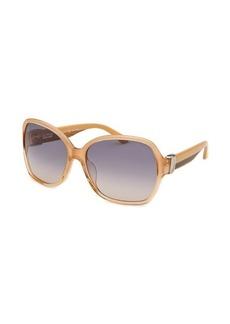 Salvatore Ferragamo Women's Square Peach Gradient Sunglasses