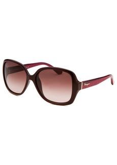 Salvatore Ferragamo Women's Square Plum Sunglasses