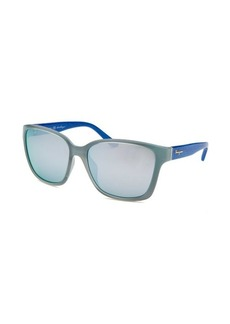 Salvatore Ferragamo Women's Square Powder Blue Sunglasses