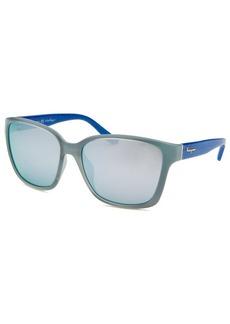 Salvatore Ferragamo Women's Square Powder Blue Sunglasses